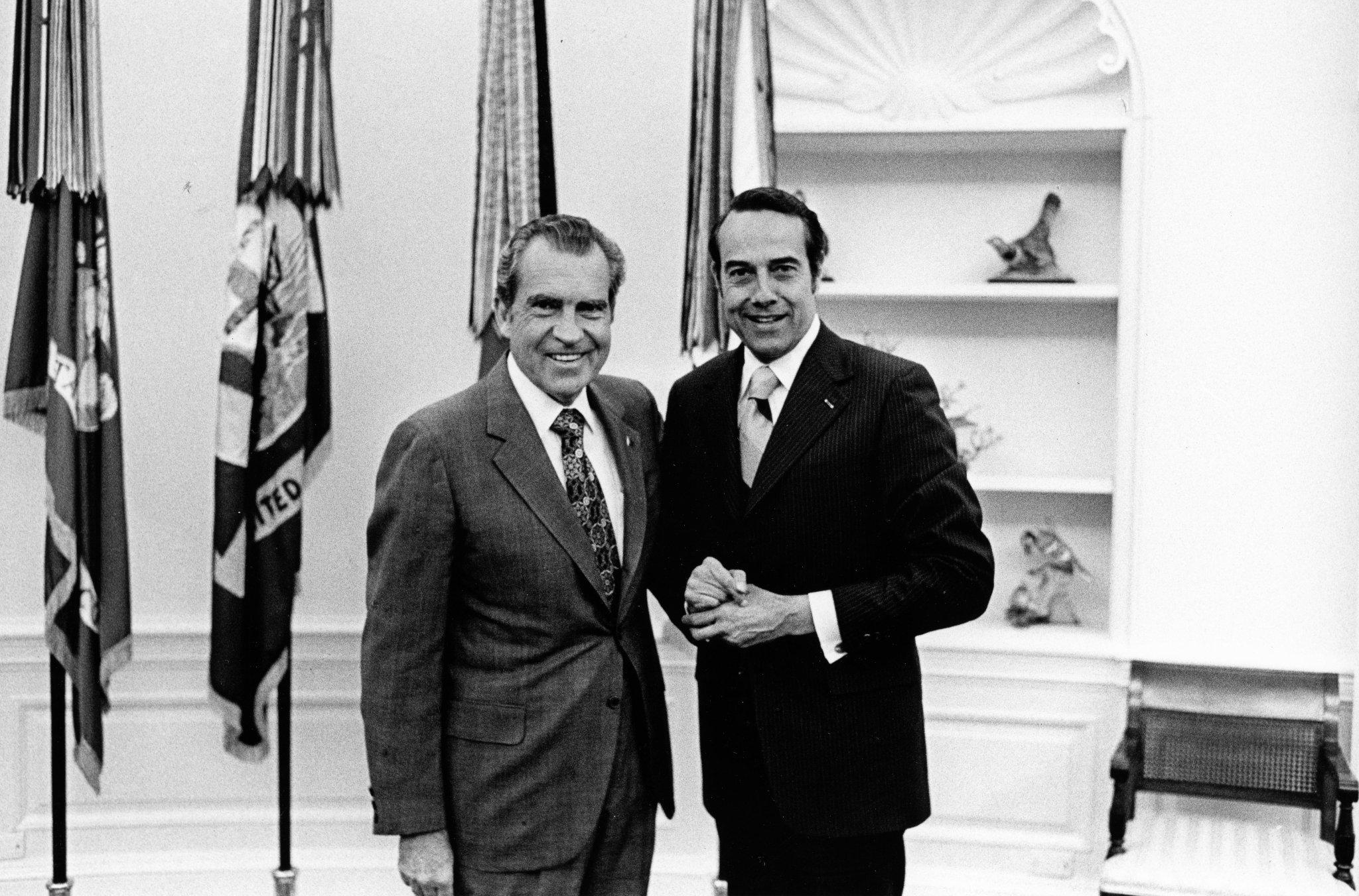 Tricia Nixon Cox and Julie Nixon Eisenhower Congratulate Senator Bob Dole on Receiving the Congressional Gold Medal