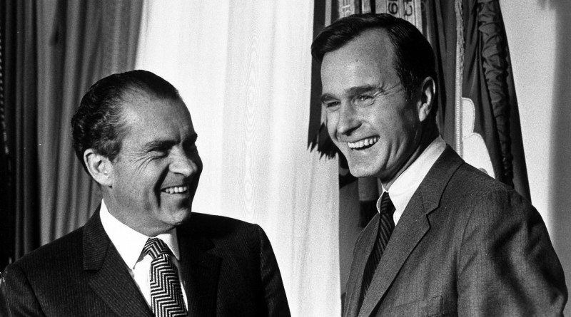 Nixon Counsels Bush on a New Middle East Peace Initiative
