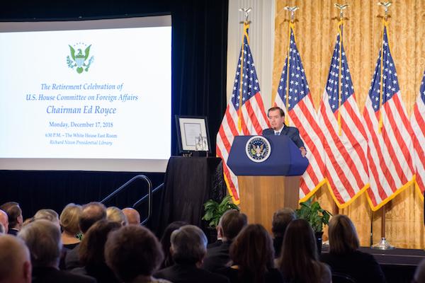 Richard Nixon Foundation Celebrates Rep. Ed Royce