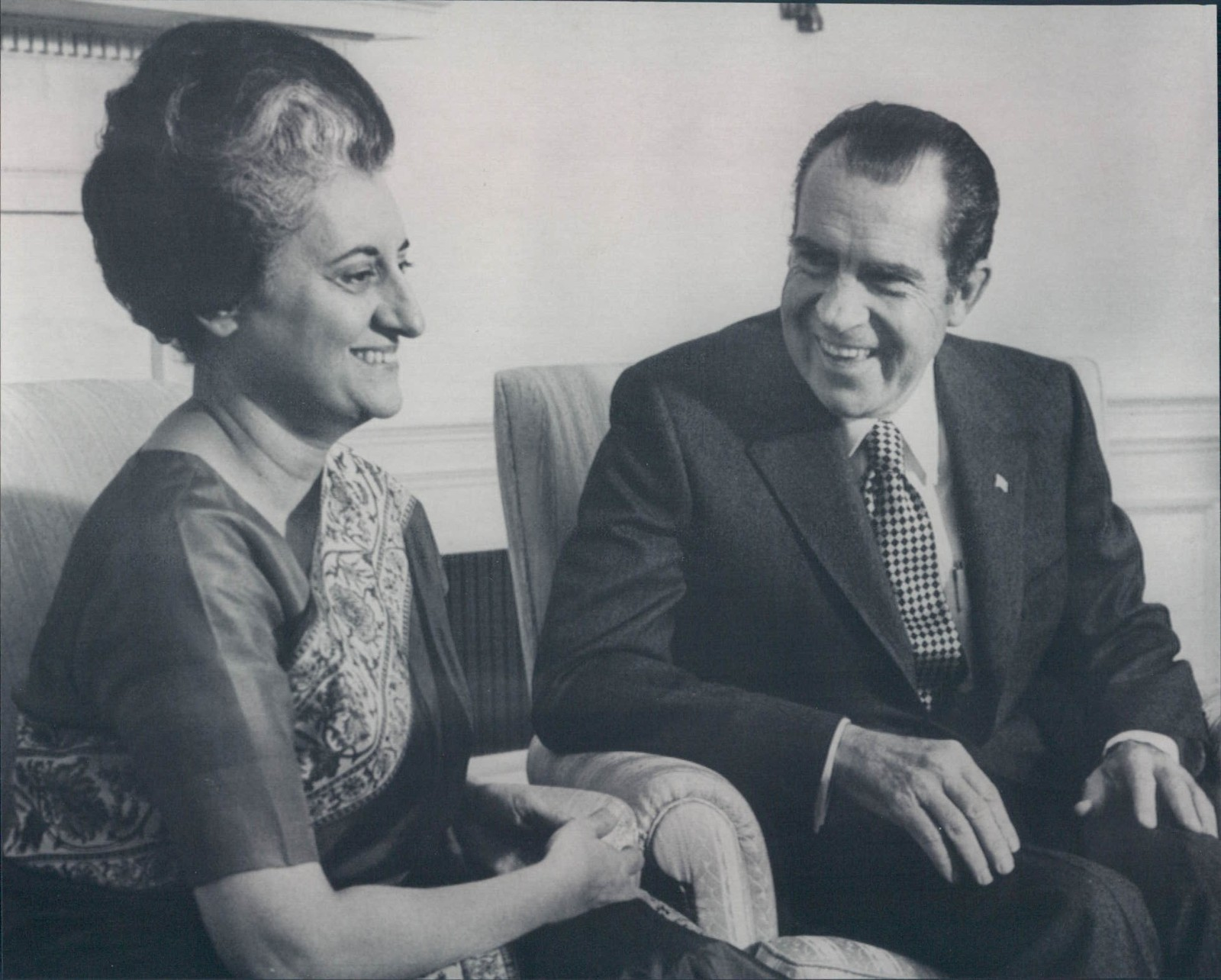 Indian Prime Minister Indira Gandhi and US President Richard Nixon - 1971