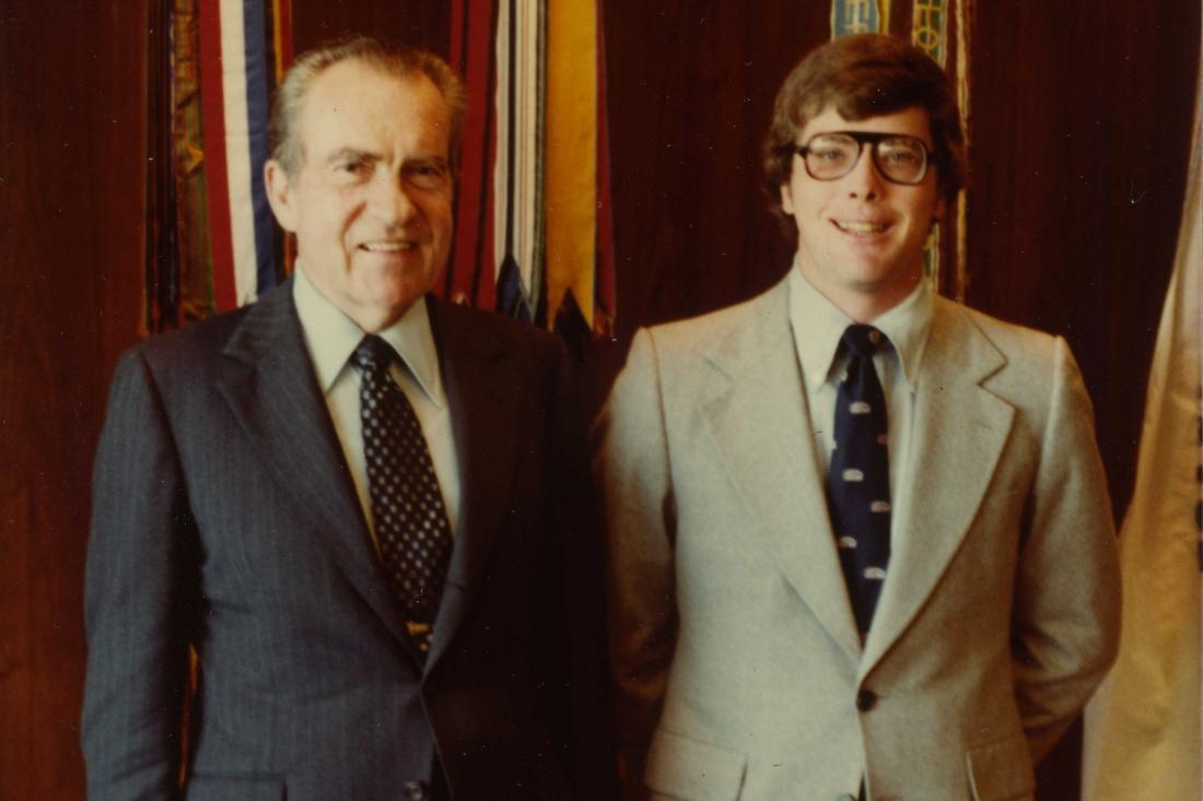 Hugh Hewitt and President Nixon