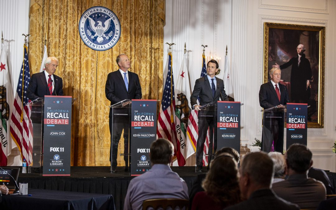 California Recall Candidates Square Off in Fox 11 Debate at the Nixon Library